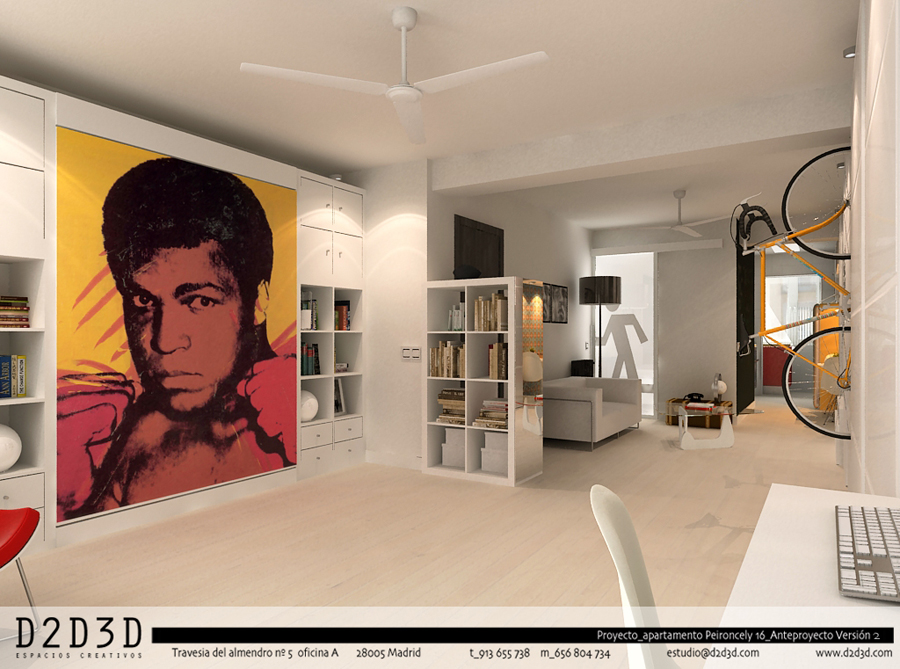 D2d3d espacios creativos proyectos for Interiorismo low cost